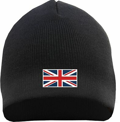 ab7a5e18e183f Union Jack Beanie - Embroidered - UK United Kingdom Flag Flag England London
