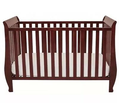Convertible Adjustable Baby /Infant Crib & Daybed Cherry Wooden Frame LOCAL PICK