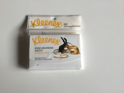 Kleenex Shine Absorbing Sheets- powder free. One packet of 50 sheets