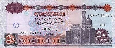 50 Egyptian Pounds note Uncirculated Brand new with Free Post