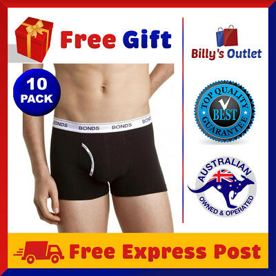 10 Pack Bonds Mens Underwear Guyfront Trunks Black Boxer Shorts Sizes S M L XL