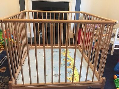 Geuther Wooden Baby Playpen