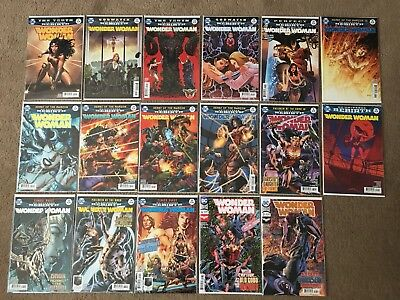 DC Comics Wonder Woman Rebirth Issues 21 - 37 (BAGGED AND BOARDED)