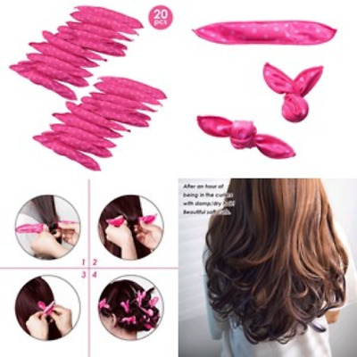 20pcs Hair Curlers Flexible Foam Sponge Curler Magic Soft No Heat Hair Curlers