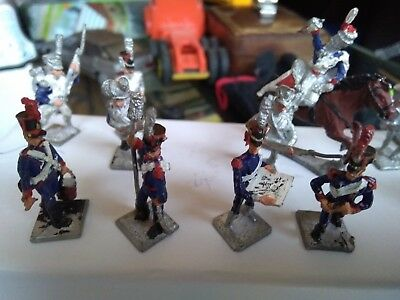 Lot Of 12 Soldiers Lead Brand Hm Plus Garnison Sub Base Polychrome