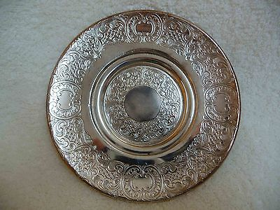 REDUCED: Britannia Metal Etched Engraved Silver Plate - EPBM, Made in England
