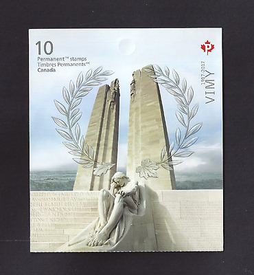 Canada  2017   New Booklet   VIMY RIDGE MEMORIAL MONUMENT       Post Office New