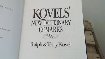 Kovels' New Dictionary of Marks Hard Cover Book, Good Condition