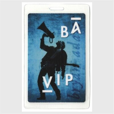 Bryan Adams authentic concert tour Laminated Backstage Pass VIP blue