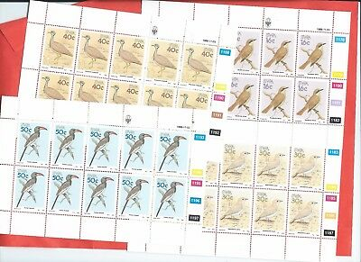 Namibia stamps. 1988 Birds of South West Africa in sheets of 10 MNH (A836)