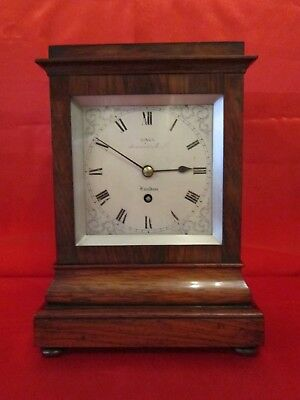 19th century rosewood chain fusee four glass library timepiece
