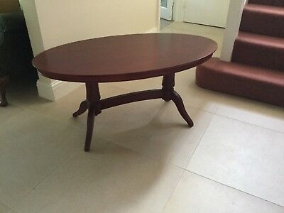 Reproduction Regency Style Mahogany Oval Coffee table from M&S, 2 available