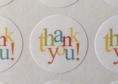 "Thank You In Colors !!! ENVELOPE SEALS LABELS STICKERS 1"" Round"