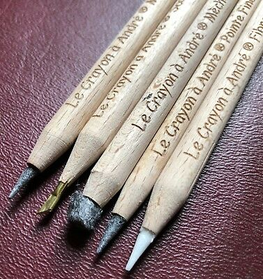 "5 Pencil Set > ""Le Crayon a Andre"" > Amazing ANCIENT ARTIFACT Cleaning tool!!!"