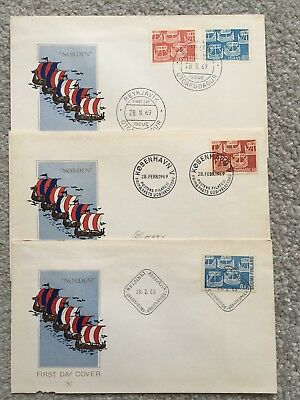 Norden Fdc First Day Cover Finland Denmark islands Iceland 1969