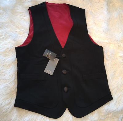Armani Exchange A/X Mens Tuxedo Lined Sleeveless Button Front Vest NWT $110