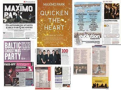MAXIMO PARK : CUTTINGS COLLECTION -adverts etc-