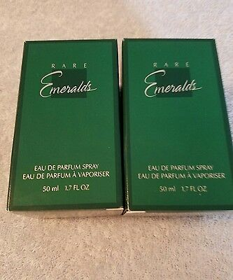 2 Avon Rare Emeralds Eau De Parfum Perfume Spray 1.7 oz New Lot of 2