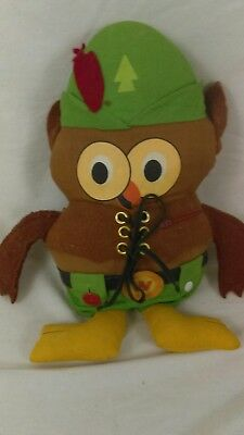 Vintage Woodsy Owl Plush Doll: Give A Hoot! Don't Pollute, 1973 Amway Corp.