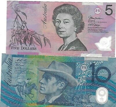 Australia 55 Dollars Face exchangeable currency $5 $10 $20