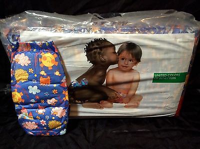 Vintage United Colors of Benetton Brand Plastic Backed Baby Diaper Size 5
