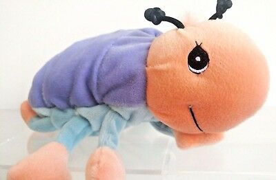 Precious Moments Tender Tails Plush Stuffed Bug Beetle Purple Retired 1999