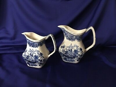2 set MASON'S PATENT IRONSTONE ASCOT Pictures WITH BLUE FLORAL