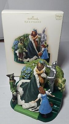 Hallmark The Wizard Of Oz  Christmas Ornament King Of The Forest Wind Up Tested