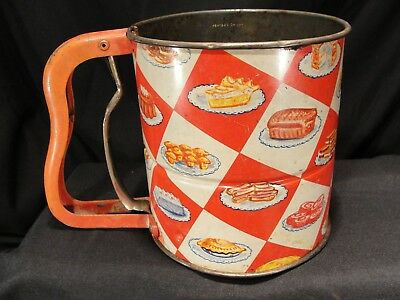 Vintage Androck Hand-i-Sift 3 Screen Sifter Great Graphics!