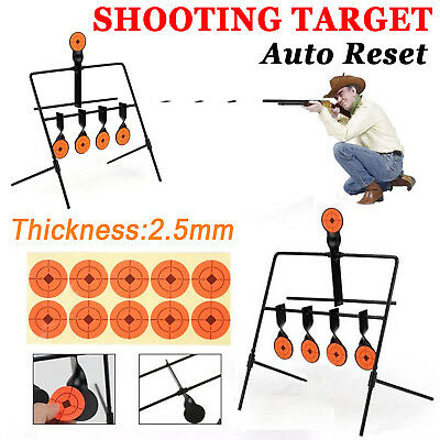 Atac Pro Metal Resetting Shooting Target 2.5mm Thick Paddle .22 Air Rifle Gun Au