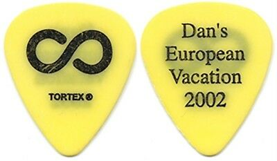 Hoobastank Dan Estrin 2002 tour Dan's European Vacation yellow band Guitar Pick
