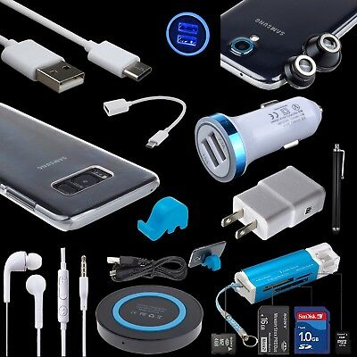 Accessory Bundles QI Wall Car Charger Cable Lens Case for Samsung Galaxy S9 S8 +