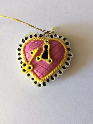 NEW Mary Engelbreit Miniature Figure Collectible Mini Hanging Ornament KEY HEART