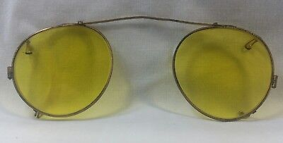 Vintage Yellow Shooter Sunglasses Clip-On