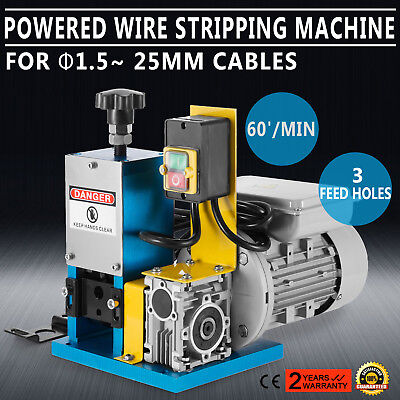 220V Powered Electric Wire Stripping Machine 1.5-25mm Metal Tool Peeler HOT