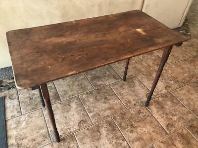 Early 1900's ANTIQUE PARIS MFG. CO. FOLDING SEWING TABLE PRIMITIVE