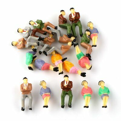 20pcs Painted Model Figures Seated People Passenger O Scale Accessories 1:42