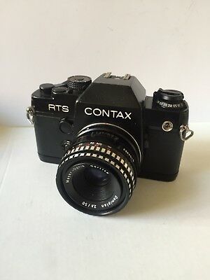 CONTAX RTS QUARTZ II CAMERA RARE With Screw Mount Adapter For Macro