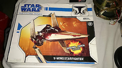 New Old Stock 2008 Hasbro. Un-used Star Wars V-Wing StarFighter.