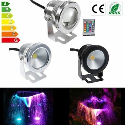 10W DC12V RGB/Warm/Cool White LED Underwater Pool Garden Light Waterproof IP68