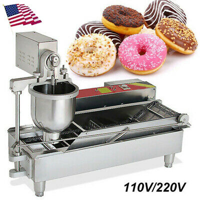 【USA】Commercial Soft Serve Ice Cream Machine 110V 3Flavor Frozen Yogurt Machine