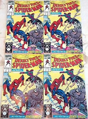 DEADLY FOES OF SPIDERMAN # 1. 4 book lot! May 1991. VF/NM