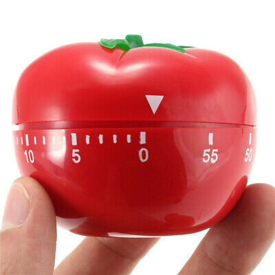 Tomato Shape 60 Minutes Kitchen Mechanical Timer Cooking Countdown Reminder
