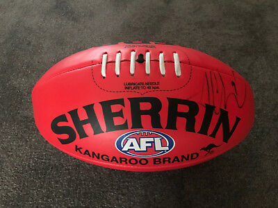 Trent Cotchin Richmond Tigers Signed Sherrin Football