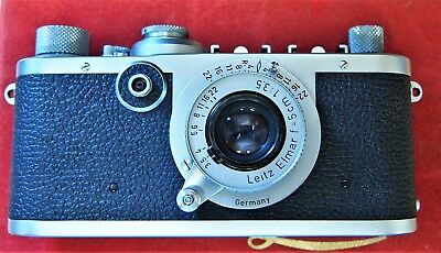 Rare LEICA IF Camera Elmar 5cm f3.5 Len's And Leica Box Serial No 577442 NICE