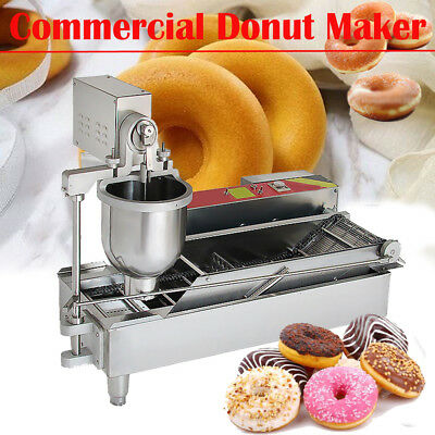 Commercial Electric Automatic Doughnut Donut Making Machine Donut Maker W/3*Mold