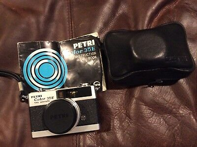 Vintage Petri Color 35mm Camera 1:2.8 f=40mm case (New With Tags)