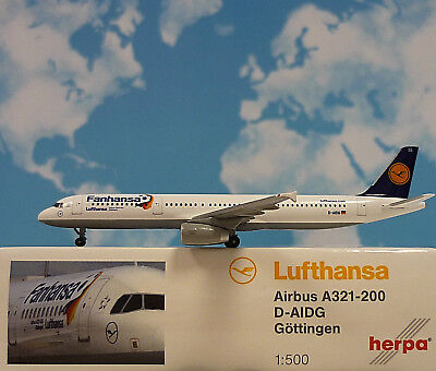 Herpa Wings 1:500 Airbus A321-200  Lufthansa  D-AIDG 526890 Modellairport500