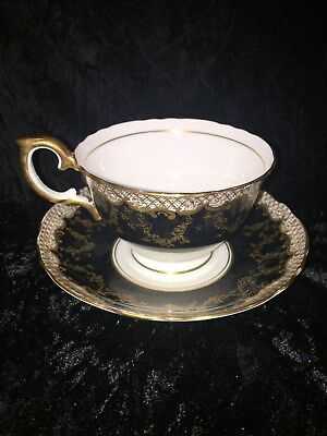 Vintage Crown Staffordshire Fine Bone China Cup and Saucer