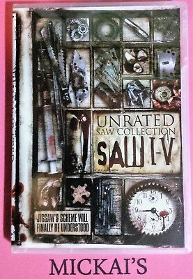 SAW I TO V - THE UNRATED SAW COLLECTION (DVD, 2009, 5-Disc Set) Dutch Filmworks